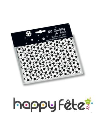 150 confettis de table ballons de foot