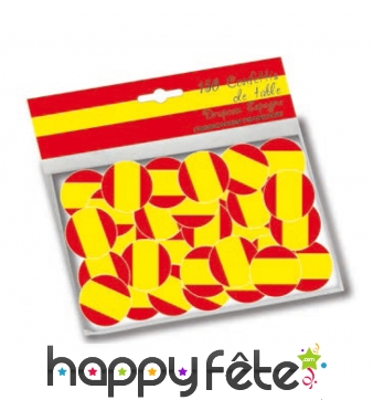 150 confettis de table drapeaux Espagne