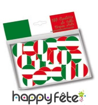 150 confettis de table drapeaux Italie