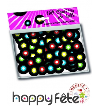 150 confettis de table en forme de disque vinyle