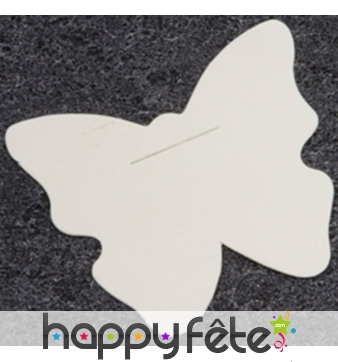 10 cartes en forme de papillon blanc