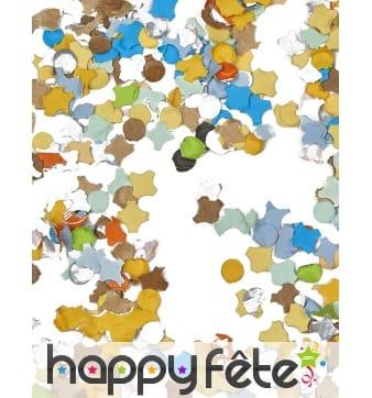 100g de confettis multicolores en papier