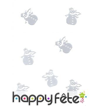 10g de confettis bonhomme de neige pour table