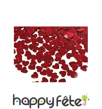 14gs de coeurs rouges confettis
