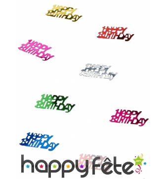 15g de confettis Happy Birthday de table