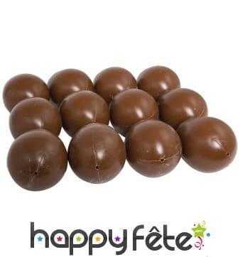 12 Faux oeufs en chocolat de 45 x 65 mm