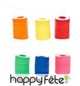 12 Lampions colorés en papier de 16 cm