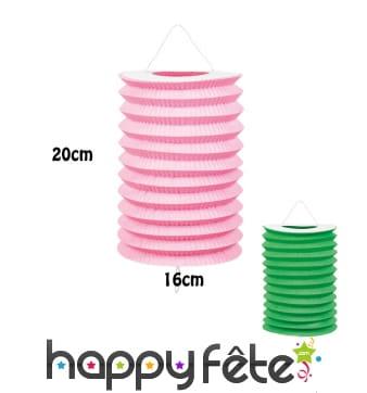 12 Lampions cylindriques de 20cm