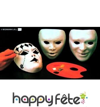 12 masques pour enfant a peindre