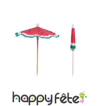 12 parapluies à cocktail imprimé pastèque de 10cm