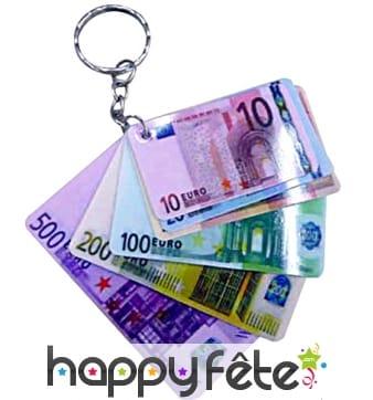 12 porte clefs billets euro