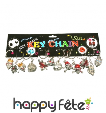 12 porte clefs pirate trash