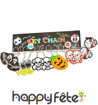 12 porte clefs pirates et Halloween en mousse