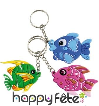 12 porte clefs poissons tropicaux