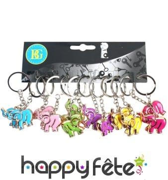 12 porte clés éléphant