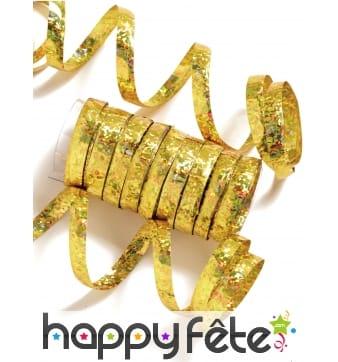 10 rouleaux de serpentins dorés