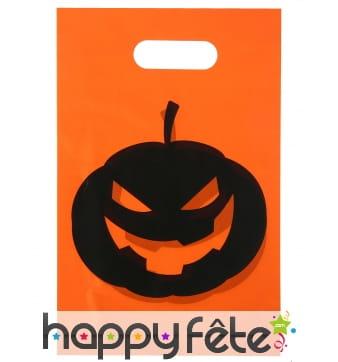 10 Sacs cadeaux Halloween imprimé citrouille
