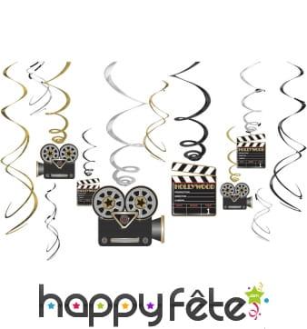 12 suspensions cinéma décoratives