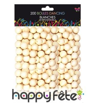 200 boules blanches de sarbacane