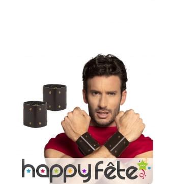 2 Bracelets de gladiateur pour homme