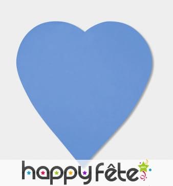 250g confettis coeur bleu roi