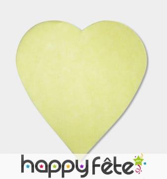 250g confettis coeur jaune pastel