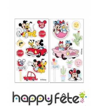 2 Feuilles comestibles Mickey Minnie pour gâteau