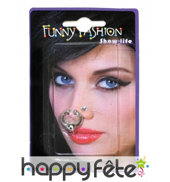 2 Faux piercings de nez