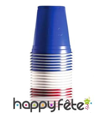 20 Gobelets Original Cup bleu blanc rouge de 53cl