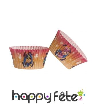 25 Moules Pat Patrouille pour cupcakes, 5 x 3 cm