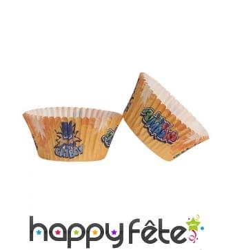 25 Moules Pyjamasks pour cupcakes, 5 x 3 cm