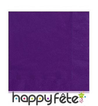 20 petites serviettes violettes en papier de 25 cm