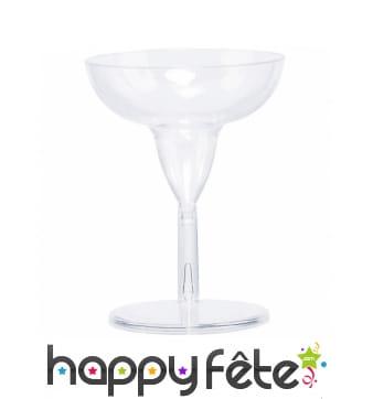 20 petits verres Margarita, plastique transparent
