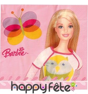 20 serviettes 33x33 cm Barbie