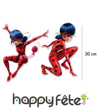 2 silhouettes cartonnées de Ladybug de 30cm