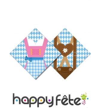 20 Serviettes motif Oktoberfest en papier