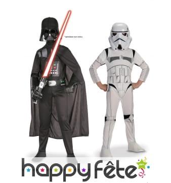 2 Tenues de Dark Vador et Storm Trooper enfant