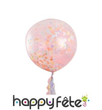 3 Ballons confettis de 91cm