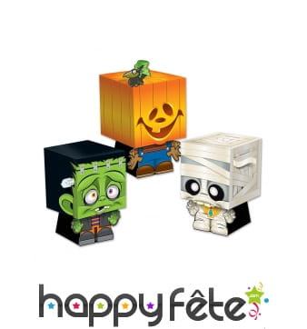 3 boîtes Trick or Treat de Halloween