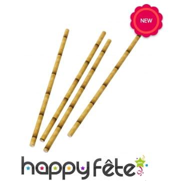 30 Pailles bambou en papier