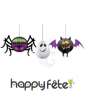 3 suspensions Halloween 3d rigolotes