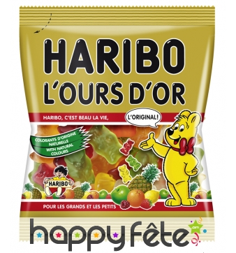 30 sachets ours d'or haribo
