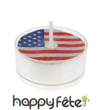 4 Bougies chauffe plat imprimé drapeau Américain