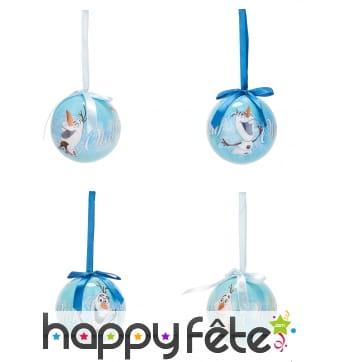 4 Boules de Noël Olaf, 7,5 cm
