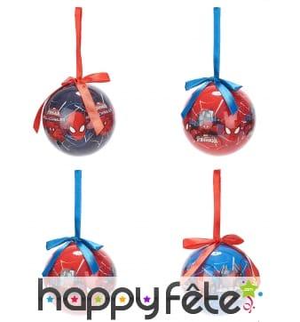 4 Boules de Noël Spiderman 7,5cm