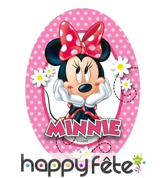 4 Décorations Minnie Mouse en azyme, 9,5 x 13 cm