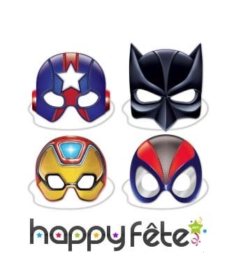 4 demi Masques de super-héros pour adulte