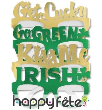 4 lunettes sur le thème de la St Patrick
