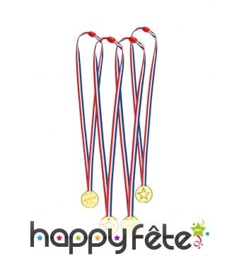 4 médailles d'or tricolores