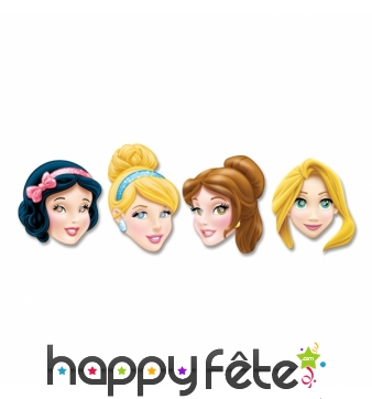 4 Masques princesses Disney en carton